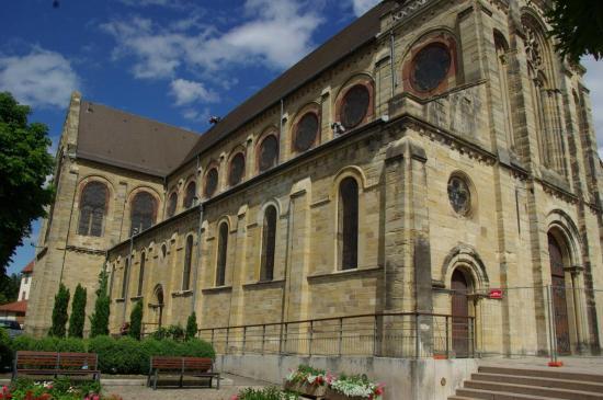 Photo - Altkirch - Eglise Notre-Dame-de-l'Assomption - façade nord