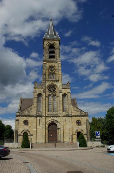 Photo - Altkirch - Eglise Notre-Dame-de-l'Assomption - façade ouest