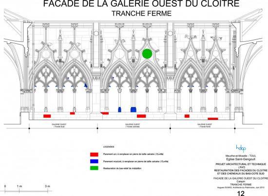 toul - église Saint-gengoult - façade ouest