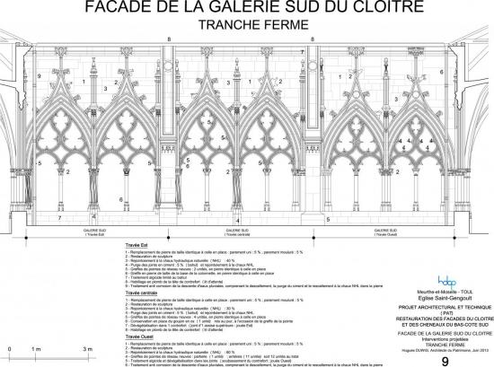 toul - église Saint-gengoult - façade sud