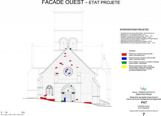 trémont-sur-Saulx église Saint-Menge - façade ouest